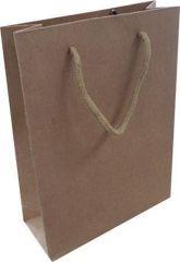 Dárková taška, hnědá, 20x15x6 cm