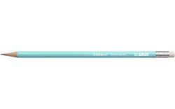 Grafitová tužka s gumou Swano Pastel, modrá, HB, šestihranná, STABILO