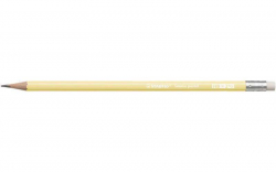 Grafitová tužka s gumou Swano Pastel, žlutá, HB, šestihranná, STABILO