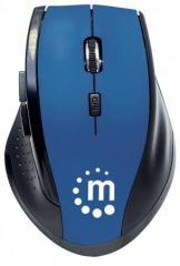 Myš, bezdrátová, optická, standardní vel., MANHATTAN Curve, černá-modrá