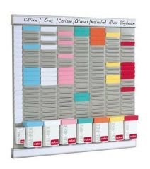 Plánovač s T-kartami Office Planner, sada, 8 sloupců 24 výřezů, NOBO
