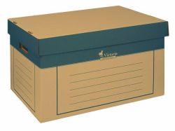 Archivační kontejner, přírodní, karton, 320x460x270 mm, VICTORIA ,balení 2 ks