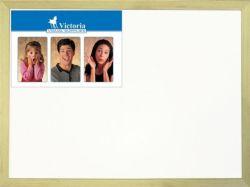Bílá tabule, 30x40cm, popisovatelná, dřevěný rám, VICTORIA