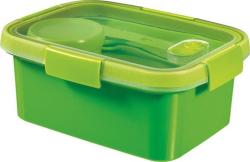 Box na jídlo  Smart to go, zelená, s příborem, 1,2l, CURVER