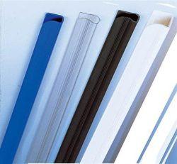 Násuvná lišta Relido, průhledná, 3 mm, 3-60 listů, FELLOWES ,balení 50 ks