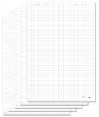 Flipchartový papír, čtverečkovaný, 68x98 cm, 5x20 listů, SIGEL ,balení 100 ks
