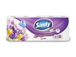 Toaletní papír Sindy, roční období, 3vrstvý, 8+2 role ,balení 10 ks