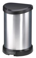 Odpadkový koš, pedálový, plastový, 20 l, CURVER, černo/stříbrný