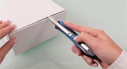 Odlamovací nůž Soft-cut, modrá/černá, 9 mm, WEDO