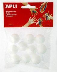 Polystyrenová koule Creative, 25 mm, APLI ,balení 10 ks