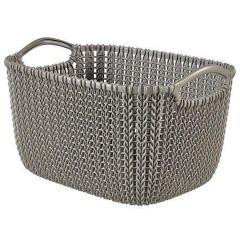 Pletený košík Knit, hnědá, velikost L, plast, CURVER