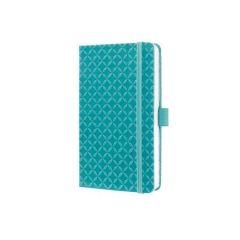 """Exkluzivní zápisník """"Jolie"""", Aqua Green, linkovaný, 95x150 mm, 174 listů, SIGEL"""