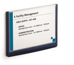 Informační tabulka CLICK SIGN, modrá, 148,5x210 mm, DURABLE