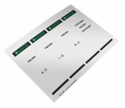 Štítky na pákové pořadače, samolepicí, šedá, 61x192 mm, LEITZ ,balení 100 ks