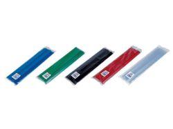 Násuvná lišta, modrá, 8 mm, 1-80 listů, DONAU ,balení 10 ks