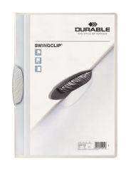 Desky s rychlovazačem Swingclip® 30, bílá, s klipem, A4, PP, DURABLE