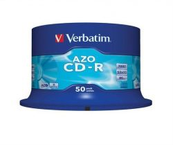 CD-R 700MB, 80min., 52x, DLP Crystal AZO, Verbatim, 50-cake ,balení 50 ks