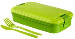 Box na jídlo, 1,2 l, s příborem, CURVER Grand Chef, zelený