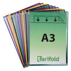 Prezentační kapsa, různé barvy, A3, na výšku, ot.shora, PP, TARIFOLD ,balení 10 ks