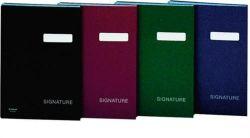 Podpisová kniha, tmavě modrá, koženka, A4, 19 listů, DONAU