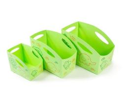 Sada dětských úložných boxů, 3ks (zelená), PRIMOBAL ,balení 3 ks