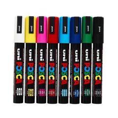 Dekorační popisovač Posca PC-3M, černá, 0,9-1,3 mm, UNI