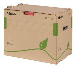 Archivační krabice na pořadače Eco, přírodní hnědá, s předním otevíráním, ESSELTE