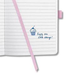 """Exkluzivní zápisník """"Jolie"""", Pastel Rose, linkovaný, 95x150 mm, 174 listů, SIGEL"""