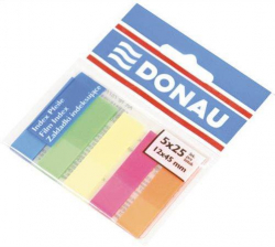 Záložky, neon, 5x25 lístků, 12x45 mm, DONAU ,balení 125 ks