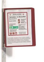Prezentační kapsa VARIO® 5 MAGNETIC, červená, magnetická, nástěnná, 5 kapes, DURABLE