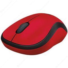 Myš M220 Silent, červená, bezdrátová, optická, USB, mini, LOGITECH
