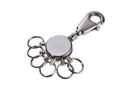 Klíčenka Patent, stříbrná, 6 kroužků, TROIKA