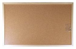 Korková tabule, 40x60cm, dřevěný rám, VICTORIA
