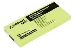 Samolepicí bloček, 38x51 mm, 3x100 lístků, DONAU ECO, žlutý ,balení 300 ks