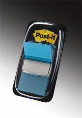 Záložky se zásobníkem, modrá, 25x43 mm, 50 listů, 3M POSTIT ,balení 50 ks