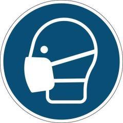 Informační samolepka Noste masku, roušku, 430 mm, DURABLE