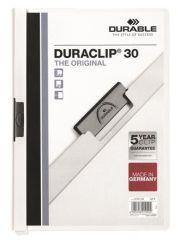 Desky s rychlovazačem DURACLIP® 30, bílá, s klipem, A4, DURABLE