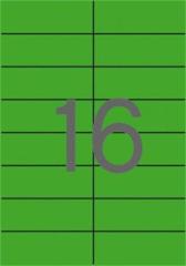 Etiketa, 105 x 37mm, zelená, 1600 ks/bal., APLI ,balení 100 ks