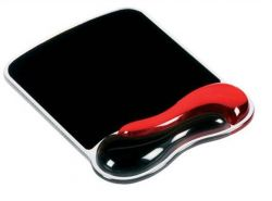 Podložka pod myš s gelovou opěrkou zápěstí, KENSINGTON DuoGel, červená/černá