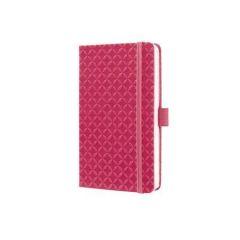 """Exkluzivní zápisník """"Jolie"""", Fuchsia Pink, linkovaný, 95x150 mm, 174 listů, SIGEL"""