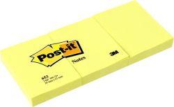 Samolepicí bloček, žlutý, 38x51 mm, 3x100 listů, 3M POSTIT ,balení 300 ks