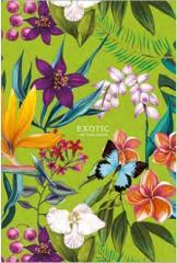 Sešit Exotic, mix motivů, čtverečkovaný, tvrdé desky, B5, 80 listů, SHKOLYARYK