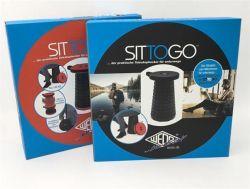 """Stolička Sittogo"""", plastová, teleskopická, černá, WEDO Sittogo"""""""