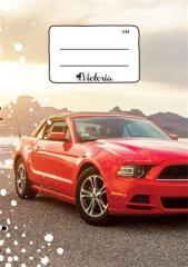 Školní sešit 544 Racing car, A5 linkovaný, 40 listů, VICTORIA