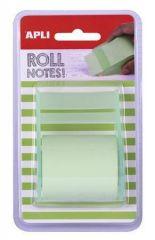 Samolepicí bloček s dávkovačem, pastelová zelená, 8 m x 5 cm, role, APLI