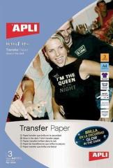 Nažehlovací fólie, pro inkoustové tiskárny, svítící ve tmě, APLI ,balení 3 ks