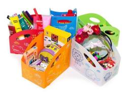 Dětský úložný box M, střední, bílá , PRIMOBAL