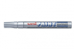 Lakový popisovač PX-20, stříbrná, 2,2-2,8 mm, UNI