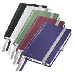 Zápisník Style, saténově černá, linkovaný, A6, 80 listů, LEITZ
