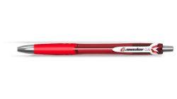 Gelové pero G.master, červená, 0,5 mm, stiskací mechanismus, FLEXOFFICE
